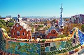 picture of gaudi barcelona  - Park Guell in Barcelona - JPG