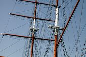 Sailing Yacht. Mast For Sails. The Sails Are Folded poster
