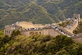 Great Wall Of China An People On It