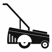 Motor Grass Cutter Icon. Simple Illustration Of Motor Grass Cutter Icon For Web Design Isolated On W poster