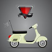 Retro scooter,vector