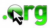 Diseño de punto ORG dirección de nombre de dominio y cursor ilustración