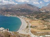 Beach Between High Mountains