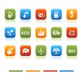 Basic color icons, eco
