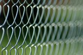 Chain link fence background.