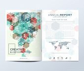 Modern Vector Template For Brochure, Leaflet, Flyer, Advert, Cover, Catalog, Magazine Or Annual Repo poster