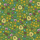 Money seamless pattern.