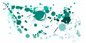 Watercolor Paint Stains Grunge Background Vector. Colorful Ink Splatter, Spray Blots, Mud Spot Eleme poster