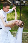 Wedding Dance In Park