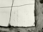 Hand made textured  border  with charcoal, graphite  and  soluble pencil