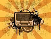 old-fashion radio -vector illustration