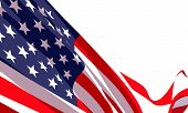 Background With Waving American Flag On White Background.vector Template For Usa Patriotic Holidays  poster