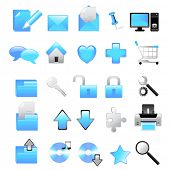 vector web icons- blue collection
