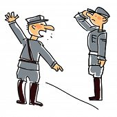 vector cartoon related with military man, soldiers and/or army