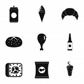 Gobble Icons Set. Simple Set Of 9 Gobble Icons For Web Isolated On White Background poster