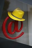 Yellow Hat On A Red @