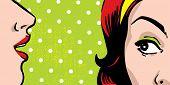 Klatschen Frauen, Comic-Bücher-Stil