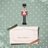 stock photo of nutcrackers  - christmas nutcracker soldier vintage toy - JPG
