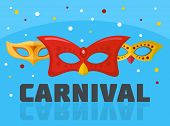 Circus Carnival Logo. Flat Illustration Of Circus Carnival Logo For Web poster