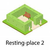 Resting Place Icon. Isometric Illustration Of Resting Place Icon For Web poster