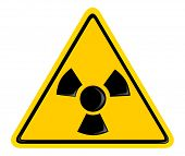 symbol of radiation. 3d