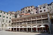 Loggia of the cathedral town of Sibenik, Croatia