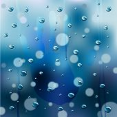 Rainy Window Background Vector
