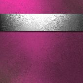 Pink Background Silver Ribbon
