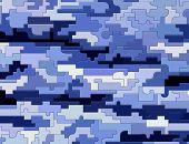 Blue Texture Puzzle