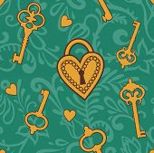 Keys-of-heart-pattern