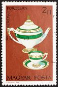 Postage stamp Hungary 1972 Teapot, Cup and Saucer