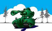 Cartoon Tank In Wargames