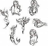Stylized Mermaids