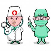 Doctor and surgeon