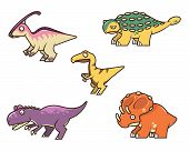 picture of ankylosaurus  - The first out of two collections of cute dinosaurs vector stock - JPG