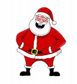 Funny Laughing Santa
