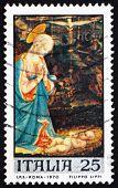 Postage stamp Italy 1970 Virgin and Child by Fra Filippo Lippi