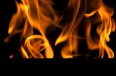 Flames With Black Background
