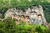 Famous Lycian Tombs, Turkey