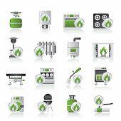 Haushalt Gas Geräte Symbole
