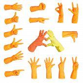 Set Of Gestures Glove