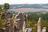 Panoramic View Bohemian Paradise, Czech
