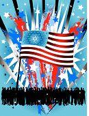 Vector Design Elements Usa Flag