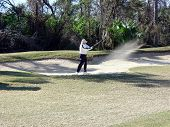 Man In Sand Trap