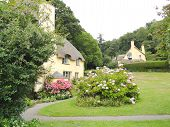 image of quaint  - Quaint cottage photographed at Selworthy Green in Selworthy in Somerset - JPG