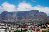 Cape Town Landscape: Bo-Kaap District and Table Mountain