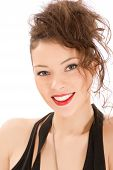 attractive smiling woman portrait