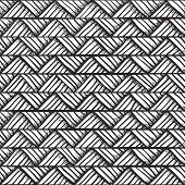 Hand drawn monochrome pattern.