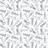 Nails and screws seamless pattern