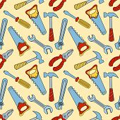 Tools seamless color pattern